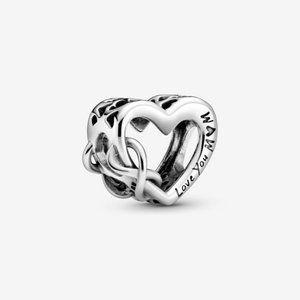 ❤️❤Pandora Silver Love You Mum Infinity Heart Char